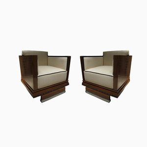 Art Deco French Armchairs by Francis Jourdain, 1940s, Set of 2