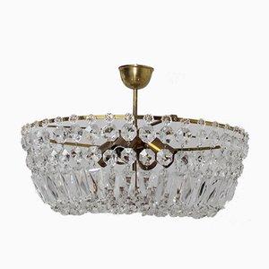 Lámpara de araña Swarovski de cristal, años 50