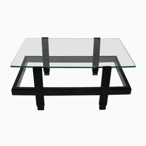 Tavolino di servizio laccato nero, anni '60