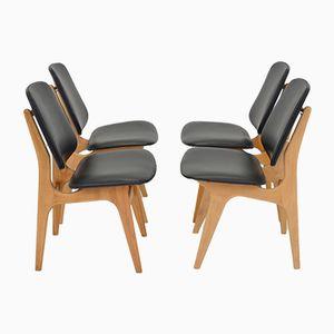 Schwedische Vintage Esszimmerstühle, 4er Set