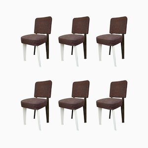Dominique Chairs by Jean Prouvé, 1950s, Set of 6