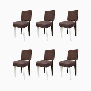 Dominique Stühle von Jean Prouvé, 1950er, 6er Set