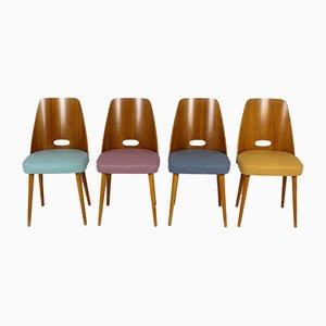 Mid-Century Stühle von ONV Pisek, 1963, 4er Set