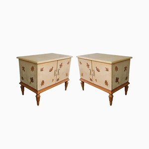 Mid-Century Italian Nightstands by Giuseppe Anzani, Set of 2