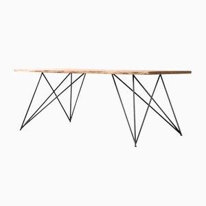 Slim Oak Table by Philipp Roessler for NUTSANDWOODS