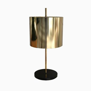 Gilded Brass Table Lamp from Oluce, 1960s