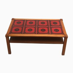 Mid-Century Tile-Top Coffee Table, 1970s
