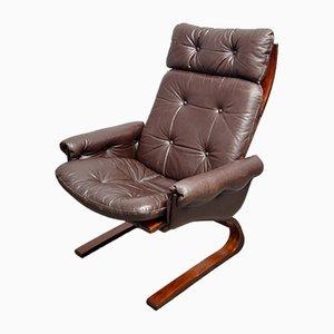 Kengu Sessel aus Palisander von Elsa & Nordal Solheim für Rybo Rykken & Co, 1970er