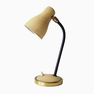 Vintage Beige Table Lamp, 1950s