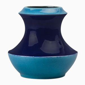 Blaue Fat Lava Vase von Bay Keramik, 1970er
