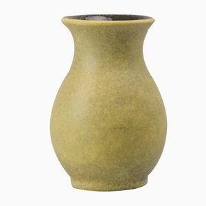Green Fat Lava Vase from Bay Keramik, 1970s