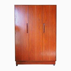 Großer Vintage Fresco Kleiderschrank mit 3 Türen von G-Plan
