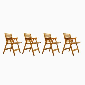 REX Folding Chairs by Niko Kralj for Stol Kamnik, 1950s, Set of 4
