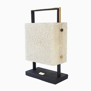 Granite Resin & Metal Table Lamp, 1960s