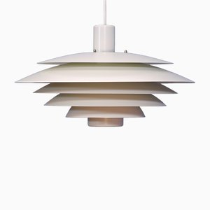 Off-White Danish Pendant from Form Light, 1970s