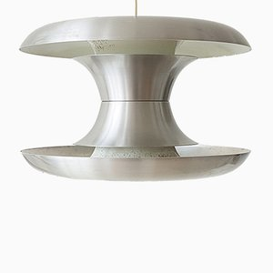 Scandinavian Brushed Steel Pendant, 1960s