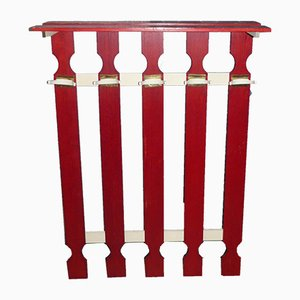 Vintage Red & White Coat Rack