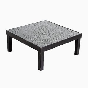 Steel & Black Resin Mosaic Coffee Table by Raf Verjans, 1970s