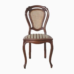 Antique Chair with Rattan Backrest