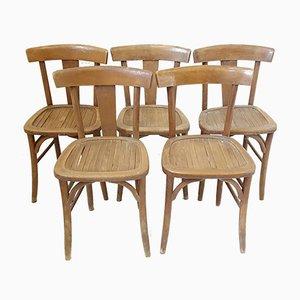 Chaises Bistrot Vintage, Set de 5