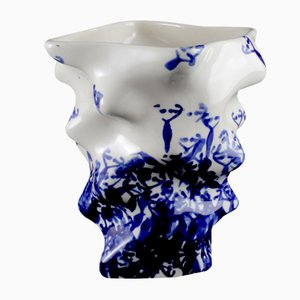 Small Useful-Unique Blue Ovaries Cup or Vase, 2016