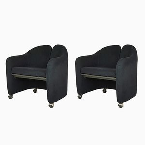 Mid-Century Italian PS142 Armchairs by Eugenio Gerli for Tecno, 1970s, Set of 2