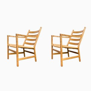 CH44 Armchairs by Hans Wegner for Carl Hansen & Son, 1960s, Set of 2