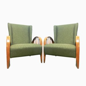 Fauteuils par Paolo Buffa, 1940s, Set de 2