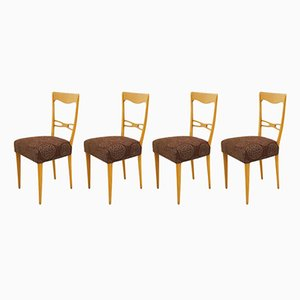 Scandinavian Beech Chairs, 1960s, Set of 4