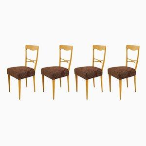 Skandinavische Stühle aus Buche, 1960er, 4er Set