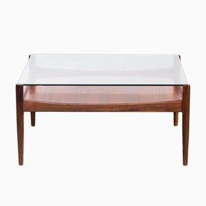 Tavolino da caffè quadrato in palissandro, anni '60