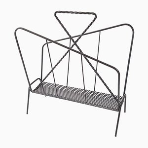 Vintage Metal Magazine Rack, 1950s