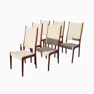 Vintage Beistellstühle von Johannes Andersen für Uldum Møbelfabrik, 1970er, 6er Set