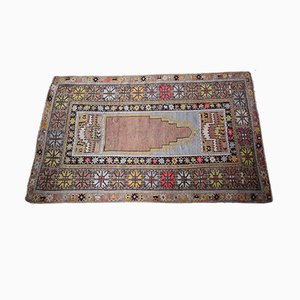 Antique Turkish Melas Prayer Rug, 1910s