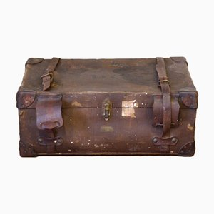 Vintage Brown Luggage Trunk, 1930s
