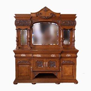 Antikes viktorianisches Sideboard aus Pollardeiche