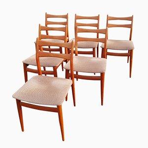 Vintage Stühle mit Gestell aus Teak, 1960er, 6er Set