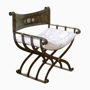 Vintage Steel Armchair, 1980s