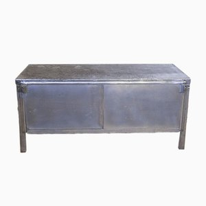 Industrial Steel Sideboard, 1920s