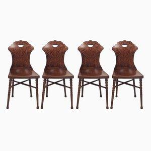 Antike Stühle von Jacob & Josef Kohn, 4er Set