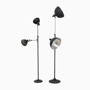 Industrial Studio Floor Lamps from KAP, 1950s, Set of 2