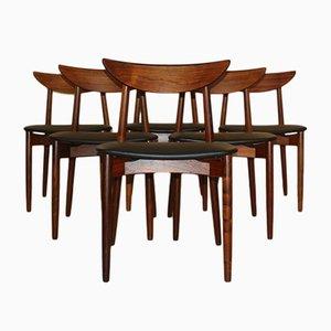 Modell 58 Esszimmerstühle aus Palisander von Harry Østergaard für Randers Møbelfabrik, 1960er, 6er Set