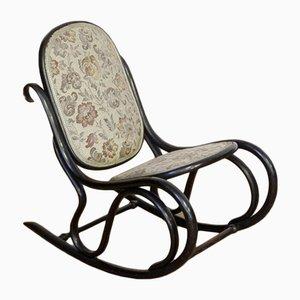 Petit Rocking Chair en Bois Courbé, 1920s