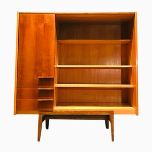 Librería vintage de haya, años 70