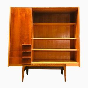 Vintage Beech Bookshelf Cabinet, 1970s