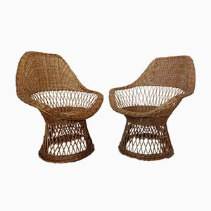 French Bamboo Chairs, 1970s, Set of 2