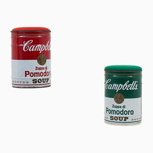 Campbell's Soup Hocker von Gavina, 1972, 2er Set
