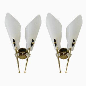 Mid-Century French Sconces, Set of 2