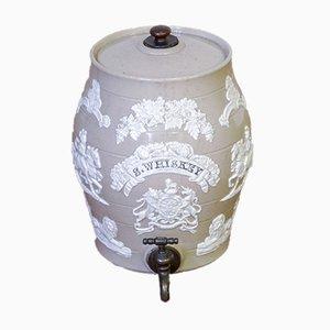 Viktorianisches Whiskyfass aus Steingut