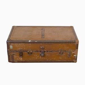 Antiker Reisekoffer mit Einlagen von Watajoy